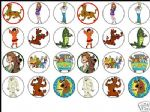 24 mixed SCOOBY DOO Cake Top Toppers - 1.6'' ideal size